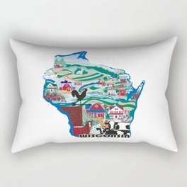 Wisconsin Country Sampler Rectangular Pillow