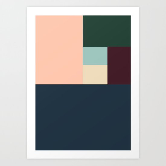 SIX BOXES Art Print