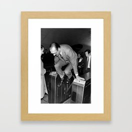 Chirac and the Metro Framed Art Print