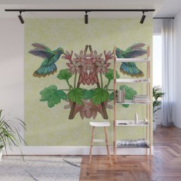Graphic Art Hummingbirds Twin Wall Mural