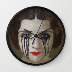 Crying woman Wall Clock