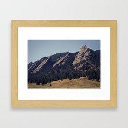 The Flat Irons Framed Art Print