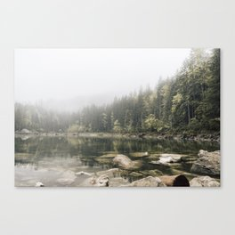 Pale lake - landscape photography Canvas Print