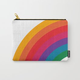 Retro Bright Rainbow - Left Side Carry-All Pouch