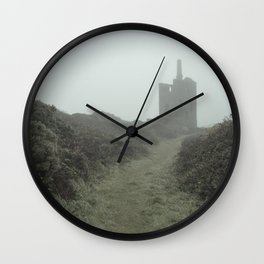 Higher Ball mine in the mist Wall Clock
