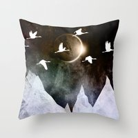 fly Throw Pillows featuring Fly High by Nireth