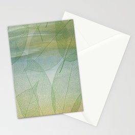 Delicate Painterly Leaves Stationery Cards