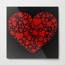HEART MADE OF RED HEARTS Metal Print