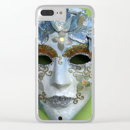 Behind the mask Clear iPhone Case