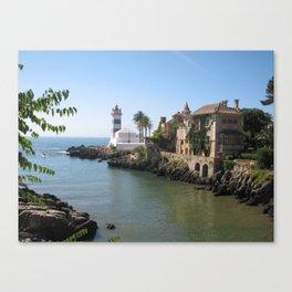 Cascais loved by the ocean Canvas Print