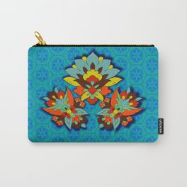 blue Persian pool and red lotus Carry-All Pouch