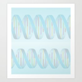 DNA - Cool Colors Art Print