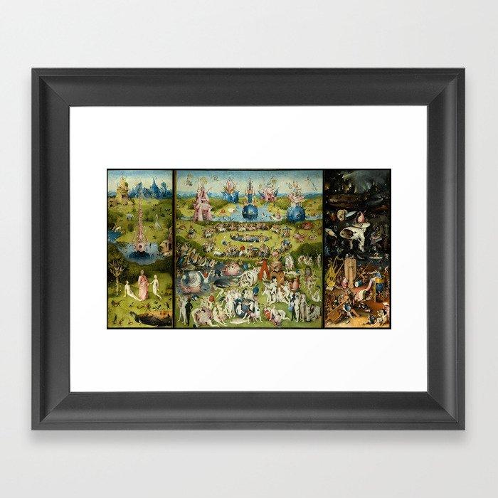 Hieronymus Bosch The Garden Of Earthly Delights Gerahmter Kunstdruck