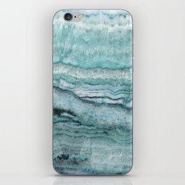 Mystic Stone Aqua Teal iPhone Skin