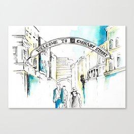 Carnaby street shopping Canvas Print