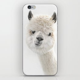 PEEKY ALPACA iPhone Skin