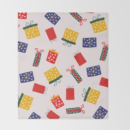 Christmas vintage Gifts pattern Throw Blanket