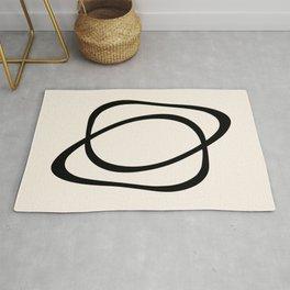 Interlocking Two A - Minimalist Line Abstract Rug