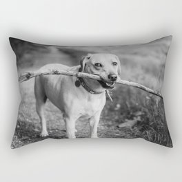 Fetch (Black and White) Rectangular Pillow