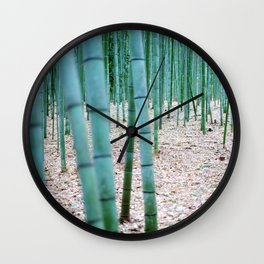 The Bamboo Grove, Arashiyama, Kyoto Wall Clock