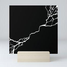 Diagonal Destroyed Dark Mini Art Print