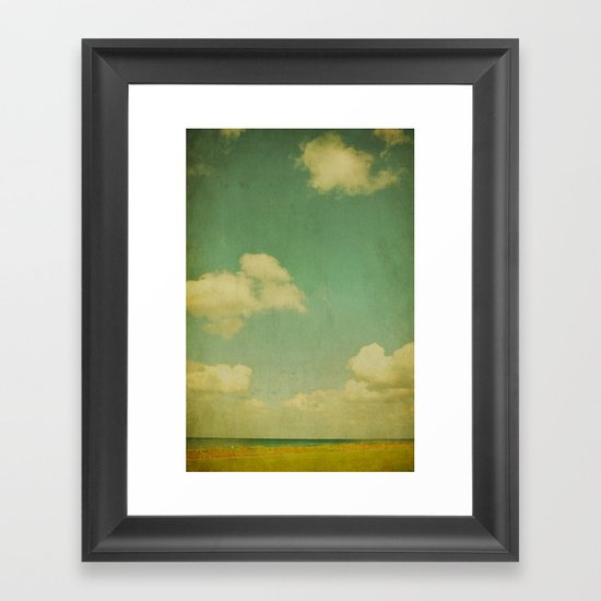 sky beach dyke Framed Art Print