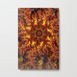 Lava Fractal Metal Print