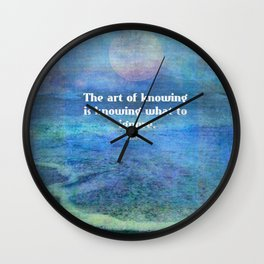 Rumi Inspirational ocean quote Wall Clock