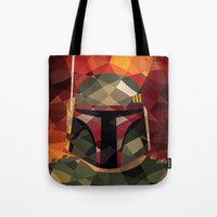 boba fett Tote Bags featuring Boba Fett by Eric Dufresne