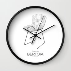 Chairs - A tribute to seats: I'm a Bertoia (poster) Wall Clock