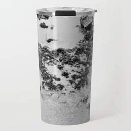 Bedrock Seascape Grayscale #6 Travel Mug