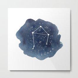 libra constellation zodiac Metal Print