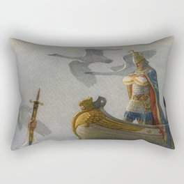 King Arthur and Excalibur Rectangular Pillow