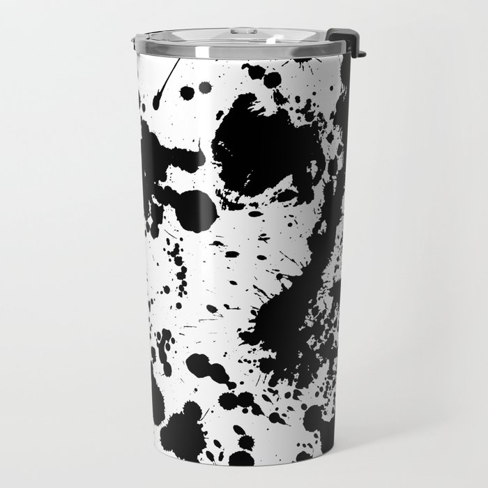 Ink spattered all over - Pattern #society6 #lifestyle Travel Mug