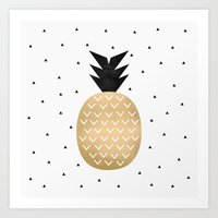pineapple Art Prints featuring Pineapple by Elisabeth Fredriksson