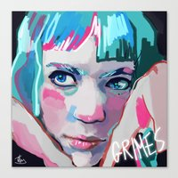 grimes Canvas Prints featuring Grimes by Tiffany Baxter