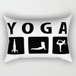 yoga practice shirt Rectangular Pillow