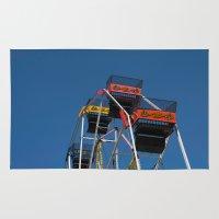 ferris wheel Area & Throw Rugs featuring Ferris Wheel by Steve Purnell