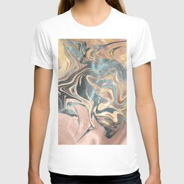 Liquid Gold and Rose Gold Marble T-shirt