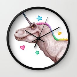 Tyrannocorn Wall Clock