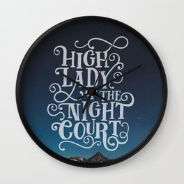 High Lady Of The Night Court - Starry Sky Wall Clock