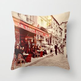 Coffehouse, Sidewalk Cafe Throw Pillow