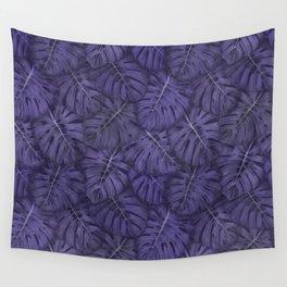 ULTRA VIOLET MONSTERA, by Frank-Joseph Wall Tapestry