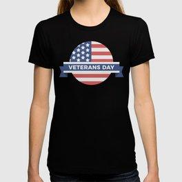 Veterans Day Commemorative Flag Design T-shirt