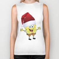 spongebob Biker Tanks featuring Spongebob Celebration by Neo Store