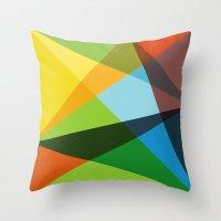 kaleidoscope Throw Pillows featuring Kaleidoscope by Marina Design