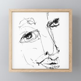 Doodle Face 6 by Kathy Morton Stanion Framed Mini Art Print