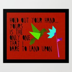 Hummingbird - The Weepies Lyrics Art Print