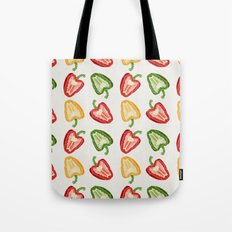Mixed Peppers Pattern Tote Bag