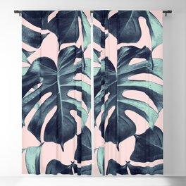 Tropical Monstera Leaves Dream #3 #tropical #decor #art #society6 Blackout Curtain